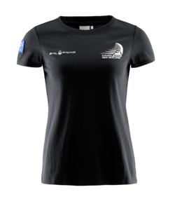 TEAM NZ SAIL RACING WOMENS SHORE T-SHIRT CARBON