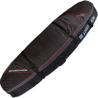 OCEAN N EARTH 2019 DOUBLE COFFIN SHORTBOARD COVER 7'0 BLACK RED