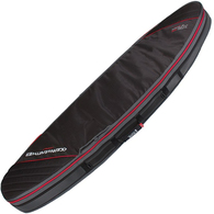 OCEAN N EARTH 2019 DOUBLE COMPACT SHORTBOARD COVER BLACK RED 6'0