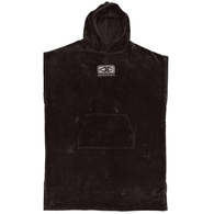OCEAN N EARTH MENS CORP HOODED PONCHO BLACK