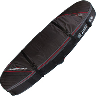 OCEAN N EARTH 2019 TRIPLE COFFIN SHORTBOARD COVER BLACK RED 8'0