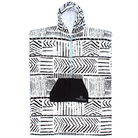 OCEAN N EARTH LADIES ZIP FRONT HOODED PONCHO BLACK