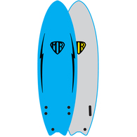 "OCEAN N EARTH MR EZI-RIDER TWIN FIN 5'6"" BLUE"