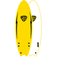 "OCEAN N EARTH MR EZI-RIDER TWIN FIN 6'0"" YELLOW"