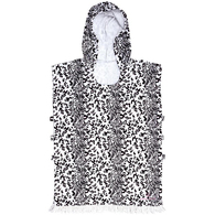 OCEAN N EARTH SUMMER FLING LADIES HOODED PONCHO WHITE