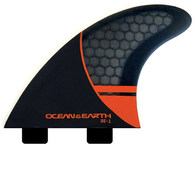 OCEAN N EARTH OE1 WHIP THRUSTER FINS RED - DUAL TAB - S