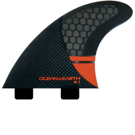 OCEAN N EARTH OE2 CONTROL THRUSTER FINS RED - DUAL TAB - S
