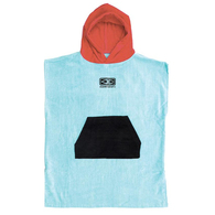 OCEAN N EARTH TODDLERS HOODED PONCHO ICE BLUE