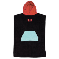 OCEAN N EARTH YOUTH HOODED PONCHO RED