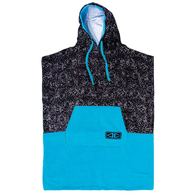OCEAN N EARTH YOUTH REEF HOODED PONCHO - BLUE