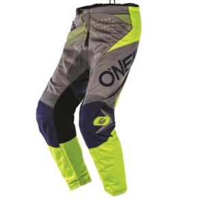 ONEAL ELEMENT FACTOR PANTS - GRAY/BLUE/NEON YELLOW (ADUL