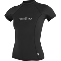 ONEILL 2018 WOMENS BASIC SKINS S/S CREW BLACK