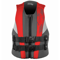 ONEILL 2018 YOUTH REACTOR USCG VEST COAL RED