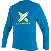 ONEILL 2019 BYS TODDLER SKINS L/S RASH TEE BRITE BLUE