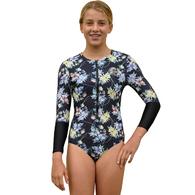 ONEILL 2019 GIRLS L/S SURFSUIT DAF DAHLIA FLORAL