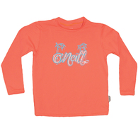 ONEILL 2019 GRLS TODDLER SKINS LS RASH TEE PAPAYA