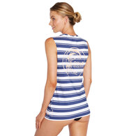 ONEILL 2019 WOMENS CRUISE RASH TANK SAILOR STRIPE