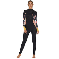 ONEILL ESSENTIALS 2020 WOMENS BAHIA 3/2 FUZE STEAMER BLK/CACTS/TWOR/GOLD