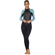 ONEILL 2020 WOMENS REACTOR II 3/2MM STEAMER BLK/NBLUE/DBLUE