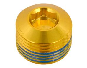 CRANKBROTHERS PEDAL PART 99089 CRB PEDAL HEX END CAP GOLD