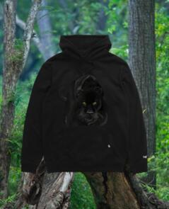 DEF PANTHER HOOD (350GSM) BLACK