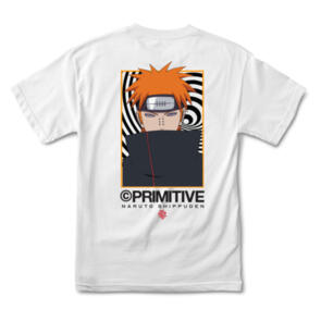 PRIMITIVE X NARUTO KNOW PAIN TEE WHITE
