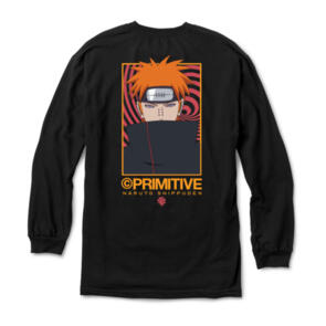 PRIMITIVE X NARUTO KNOW PAIN L/S TEE BLACK