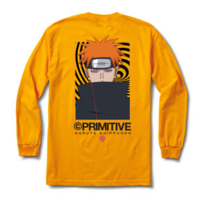 PRIMITIVE X NARUTO KNOW PAIN L/S TEE GOLD