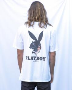 PLAYBOY MAY/ JUNE 2018 ORIGINAL FIT S/S TEE WHITE