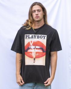 PLAYBOY NOV 13' ORIGINAL FIT S/S TEE BLACK