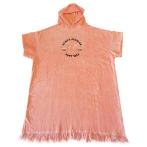 STICKY JOHNSON TEEN/WOMENS (12-18YR) HOODED TOWEL PEACH PALM WAVE