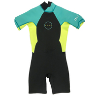 PEAK WETSUITS GIRLS ENERGY S/SL 1.5 SPRING TURQUOISE