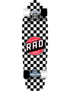RAD BOARD CO RETRO ROLLERS CHECKERS BLACK WHITE 28