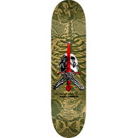 POWELL PERALTA MAPLE SKULL AND SWORD OLIVE 8.25