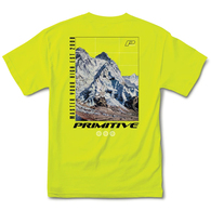 PRIMITIVE SUMMIT TEE SAFTEY GREEN
