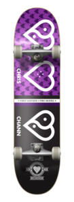 """THE HEART SUPPLY CHRIS CHANN PLANET HEART COMPLETE PURPLE 7.75"""""""""""