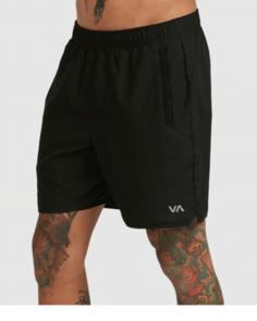 RVCA YOGGER IV SHORT WALKSHORTS BLACK