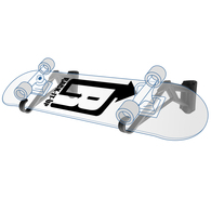 RACK IT UP SKATEBOARD STORAGE RACK (HORIZONTAL)