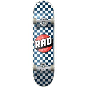 RAD BOARD CO DUDE CREW COMPLETE CHECKERS NAVY WHITE 7.5