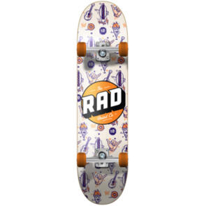 RAD BOARD CO DUDE CREW COMPLETE WALLPAPER ORANGE 7.5