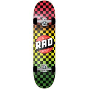 RAD BOARD CO DUDE CREW COMPLETE CHECKERS RASTA FADE 8