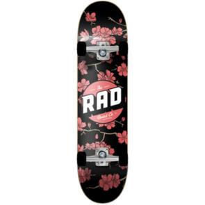 RAD BOARD CO DUDE CREW COMPLETE CHERRY BLOSSOM BLACK RED 8