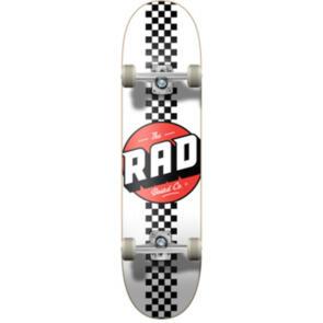 """RAD BOARD CO PROGRESSIVE COMPLETE CHECKER STRIPE - WHITE / BLACK - 7.75"""""""""""