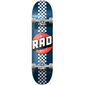 """RAD BOARD CO PROGRESSIVE COMPLETE CHECKER STRIPE - NAVY / WHITE - 7.75"""""""""""