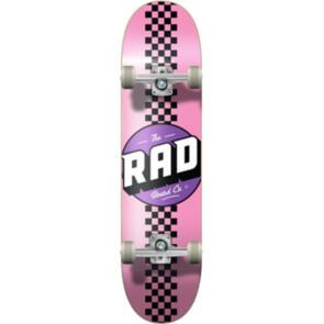 """RAD BOARD CO PROGRESSIVE COMPLETE CHECKER STRIPE - PINK/ BLACK 7.75"""""""""""