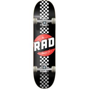 """RAD BOARD CO PROGRESSIVE COMPLETE CHECKER STRIPE - BLACK / WHITE 8"""""""""""