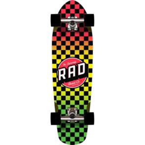 RAD BOARD CO CRUISER CHECKERS RASTA FADE 9.125