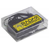 RADAR 2019 LACE LOCK  KIT - BLACK (1 PAIR LACE - 1 PAIR BUNGEE AND LOCKS)