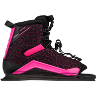 RADAR 2020 LYRIC BOOT - BLACK / PINK - FRONT FEATHER FRAME