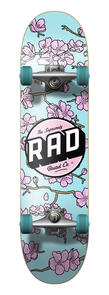 RAD BOARD CO DUDE CREW COMPLETE CHERRY BLOSSOM PINK   BLUE 7.75
